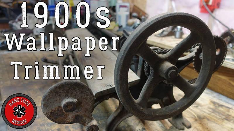 1900'lerden Kalma Duvar Kağıdı Kesme Makinası Restorasyonu