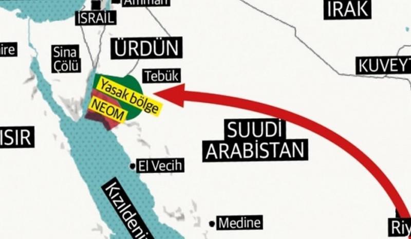 Suudi Arabistan İsrail'e Toprak Verdi