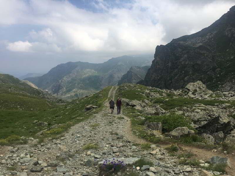 Hannibal'ın geçtiği iddia edilen rota, Col de la Traversette'ye tırmanış.
