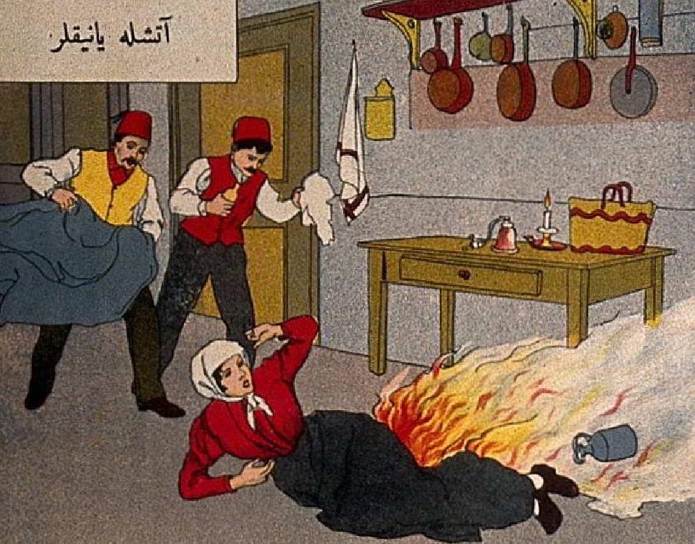 Osmanlı Hilal-i Ahmer Cemiyeti (Kızılay) İlk Yardım Broşürü – 1910'lar