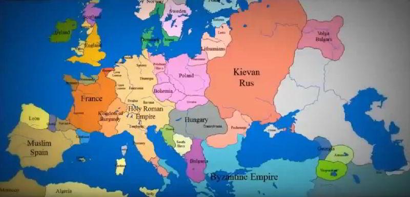 1140 Yılından Günümüze Avrupa Haritasındaki Değişiklikler
