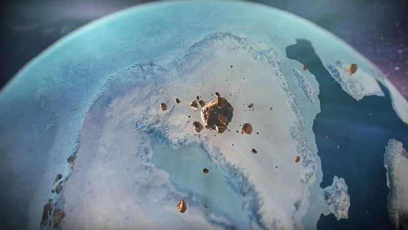 Grönland'de Buz Tabakası Altında Meteor Çarpması Sonucu Oluşan Dev Krater Keşfedildi