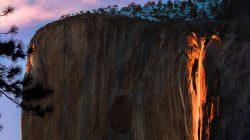 Yosemite Ateş Şelalesi (Horsetail Şelalesi)