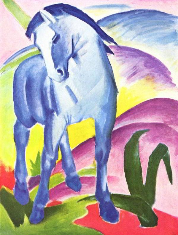 Franz Marc'ın (1880-1916) 1911 yılındaki yapıtı, Blaues Pferd I.