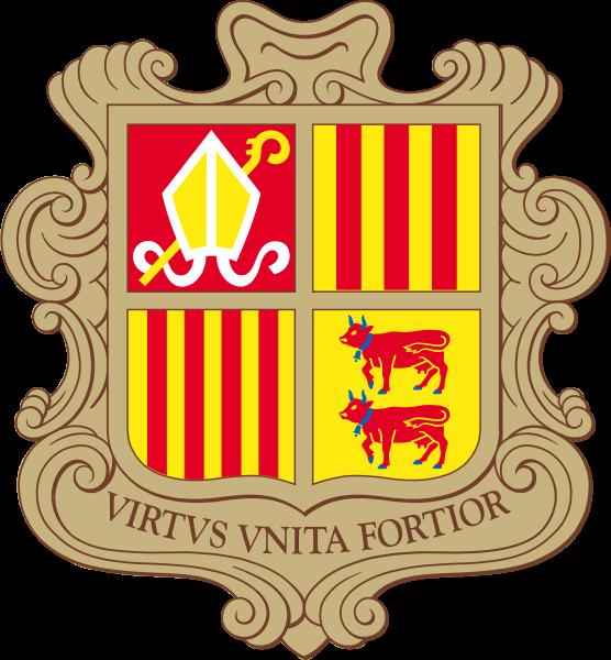 Andorra arması - Kabul tarihi : 1969