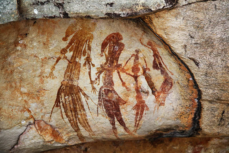 Batı Avustralya'nın Kimberley bölgesinde yerli kaya sanatı