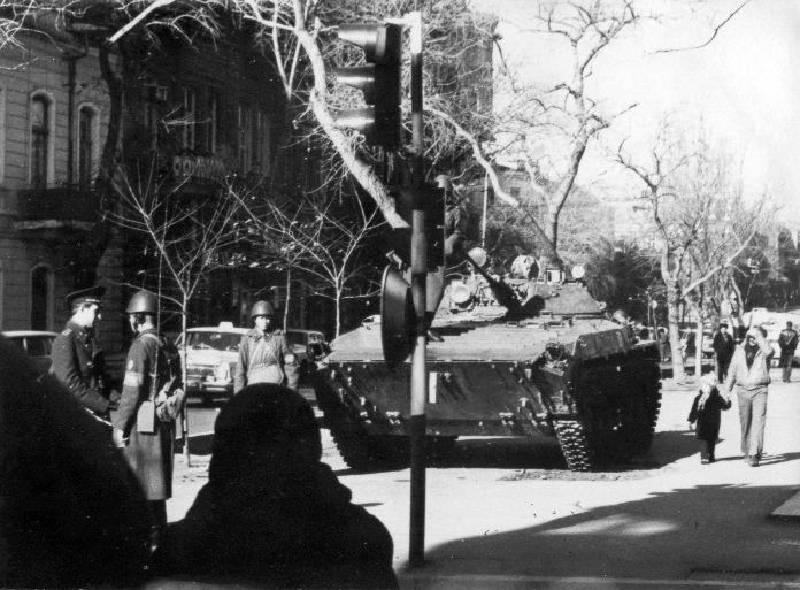 Kızıl Ordu, Kara Ocak sırasında Bakü'de