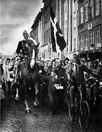 Almanya işgali günlerinde kral X. Christian