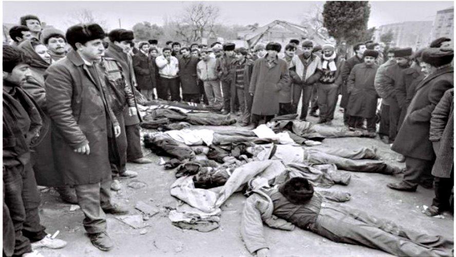 Dağlık Karabağ'da Ermenilerin yaptığı  soykırım