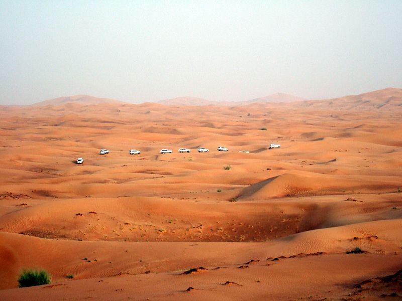 Dubai'deki çöl
