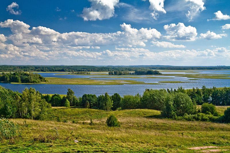 Vitsebsk Bölgesi'ndeki Strusta Gölü.