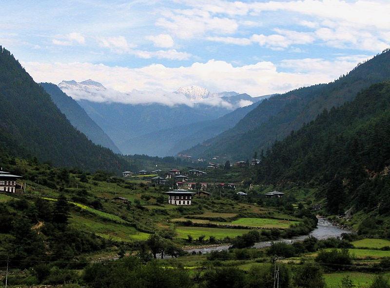 Batı Butan'daki Haa Vadisi