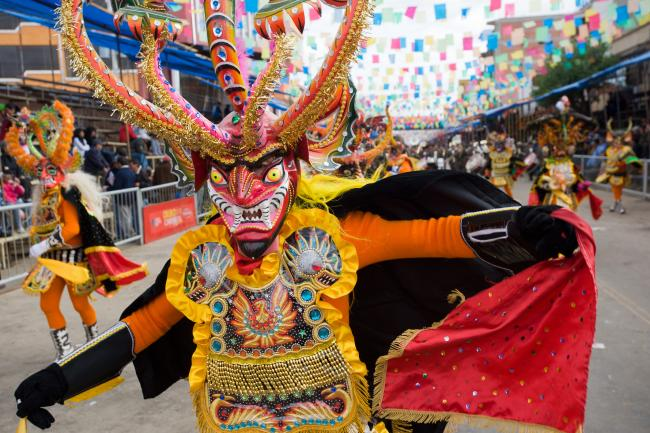 Bolivya'da  bir Festival