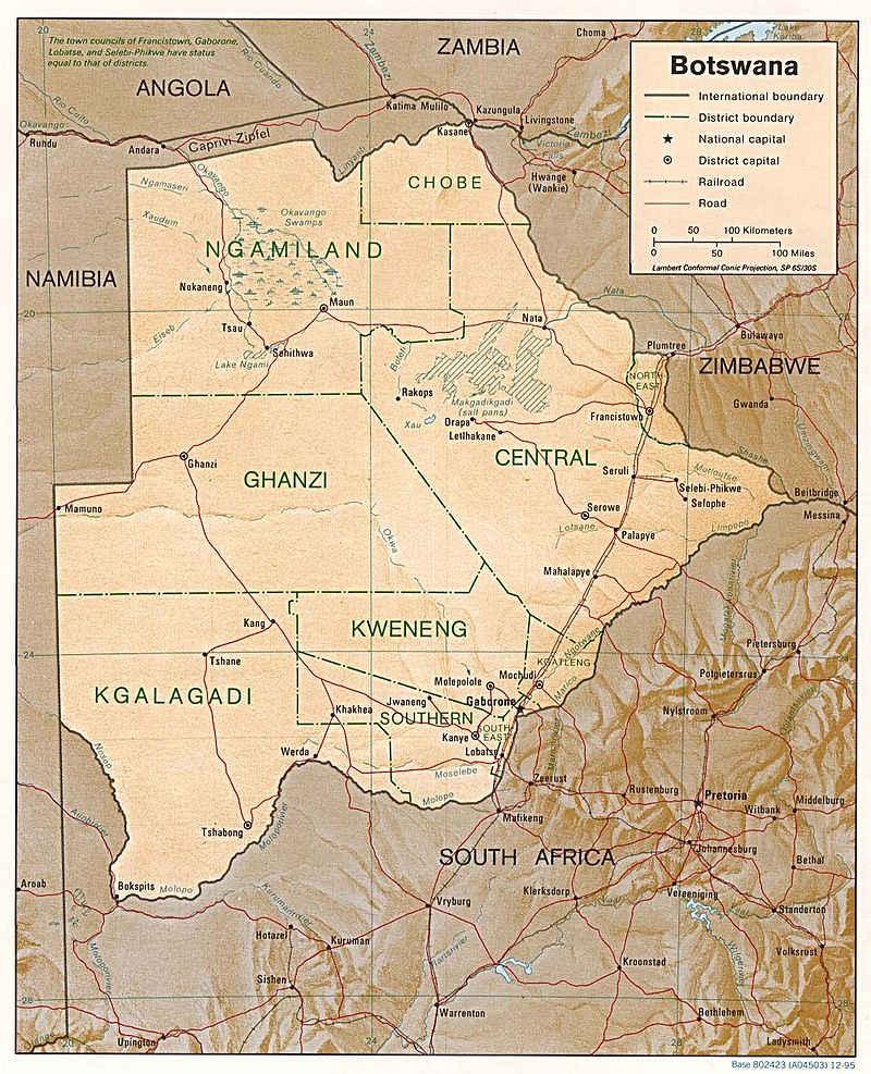 Modern Botsvana - Ülkenin sınırları 1966 yılında bağımsızlıktan bu yana sabit kalmıştır