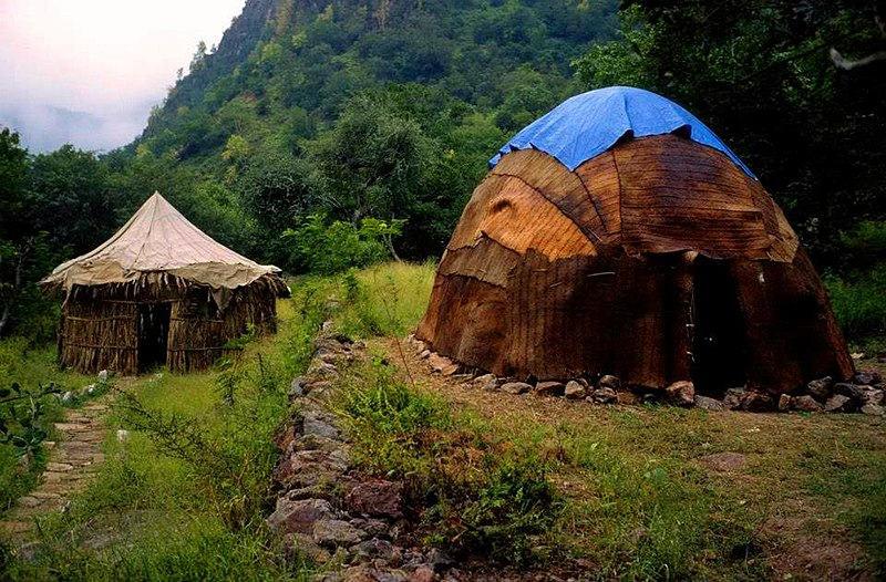 Mabla Dağları'nda geleneksel evler