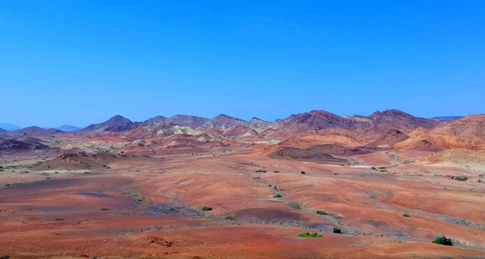 Dasbiyo yakınındaki dağlar