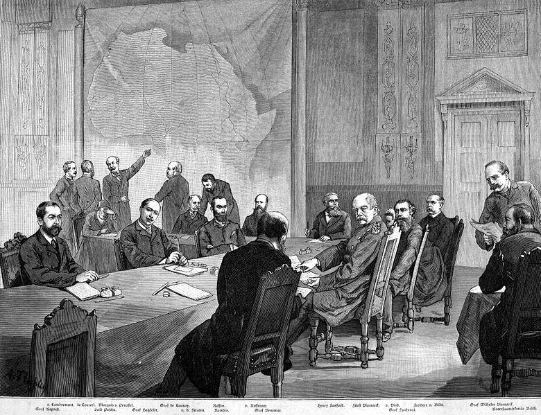 Berlin Konferansı'nı konu alan çizim