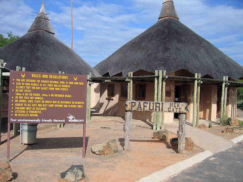 Kruger Ulusal Parkı girişi