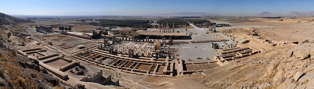 Persepolis'in panoramik görünümü