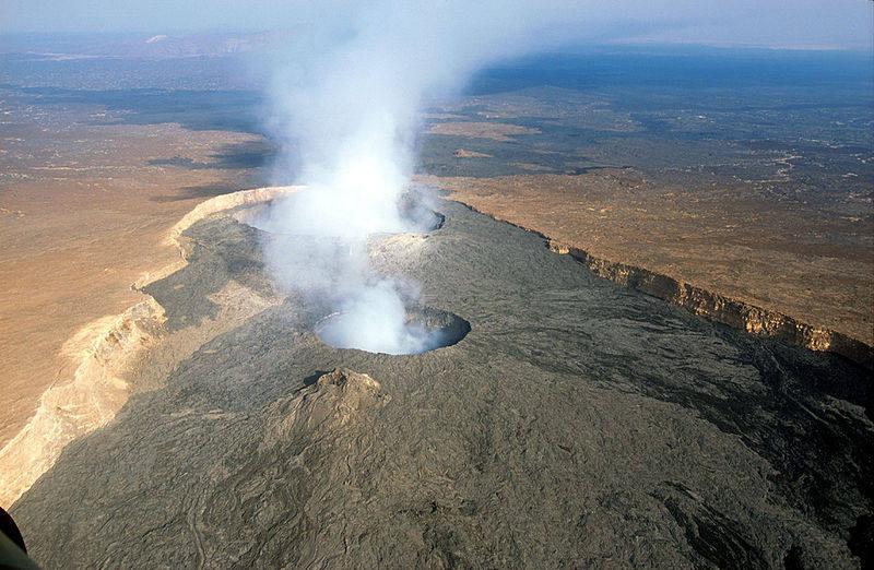Danakil çölündeki Erta Ale yanardağı