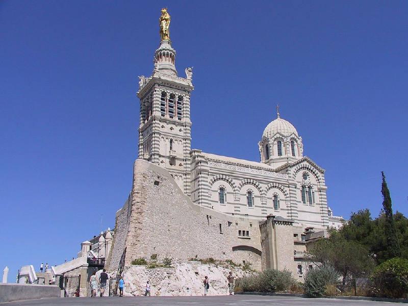 Marsilya'daki Notre-Dame-de-la-Garde Bazilikası