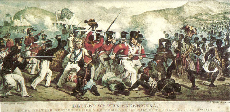 İlk Anglo-Asante savaşı 1823'ten 1831'e kadar sürdü.