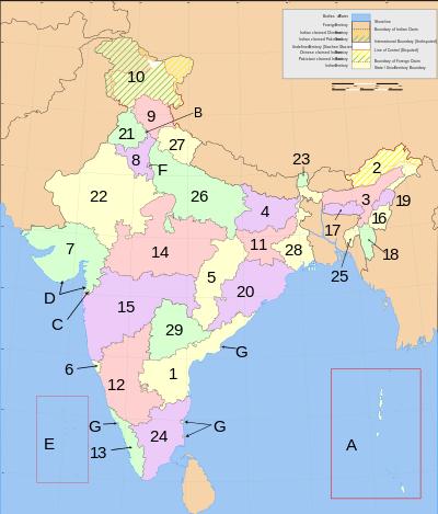 Hindistan Bölgeleri