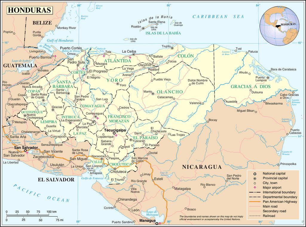 Honduras haritası