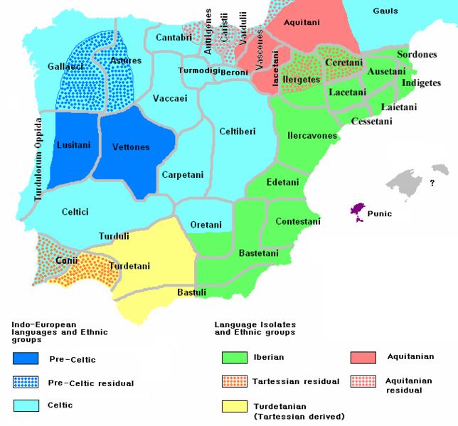 İberler Siyasi harita