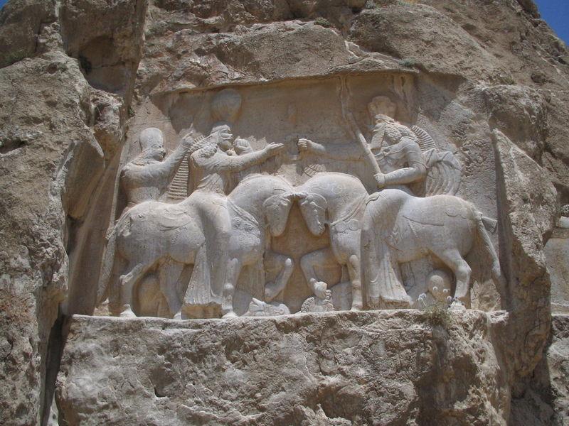 I. Ardeşir'in Sâsânî döneminde yapılmış kabartması