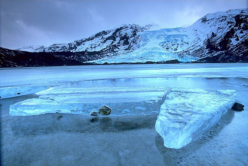 İzlanda'nın küçük buzullarından biri olan Eyjafjallajökull Buzulu