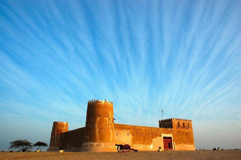 1938'de Şeyh Abdullah bin Jassim Al Thani'nin gözetiminde inşa edilen Al Zubara Kalesi