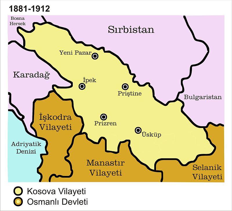 1881-1912 yıllarında Kosova Vilayeti