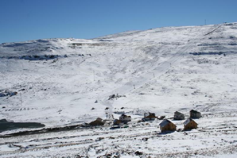 Lesotho'nun tek kayak merkezi Afri-Ski
