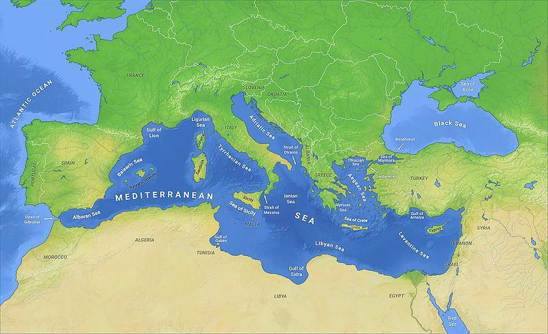 Levanten Denizi, Akdeniz'in Doğusu