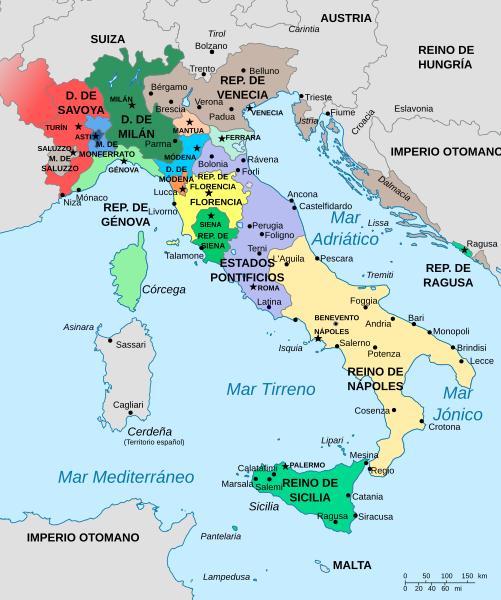 Orta çağ sonlarında  İtalya
