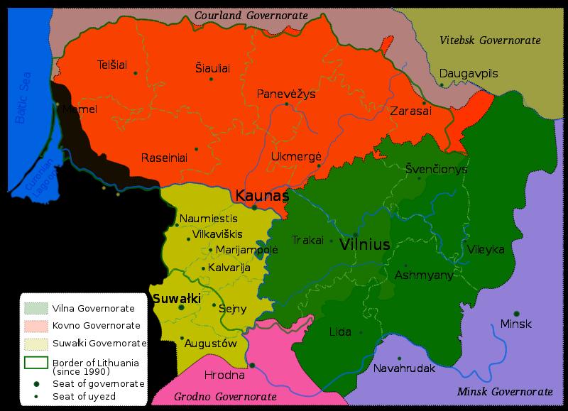 1867-1914 yılları arasında Litvanya