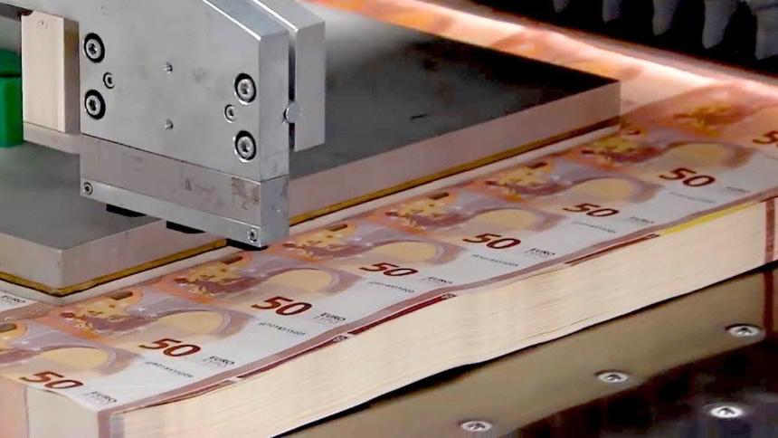 Para Nasıl Basılır? 50 Euroluk Banknot Yapımı