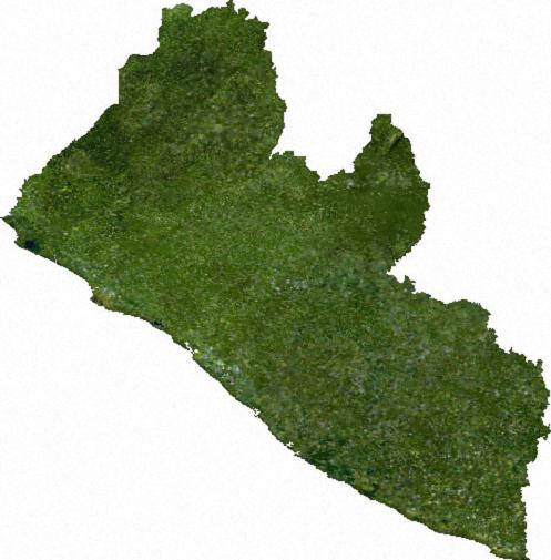 Liberya Uydudan  görünüm