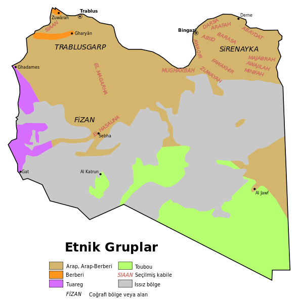 Libya'daki etnik dağılım