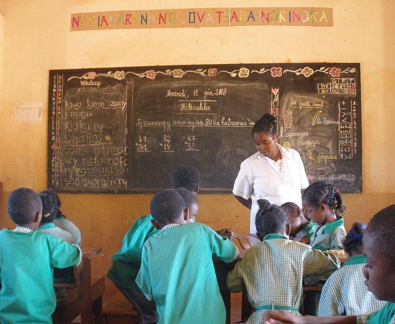 Madagaskar'da bir okul