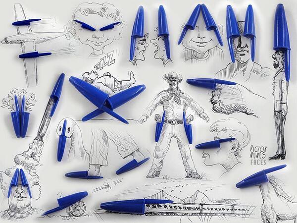 Tükenmez  kalem  kapağından  resim