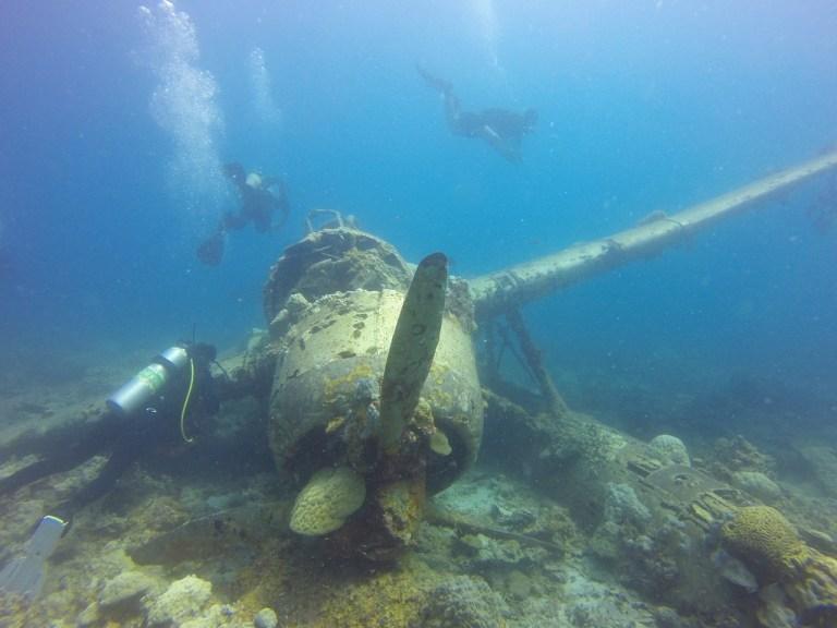 Palau'da II. Dünya Savaşı'nda kalma batık savaş uçağı