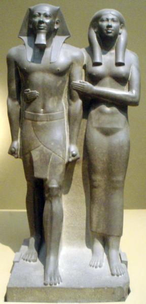 Menkaura ve Kraliçe II. Hamerernebti (Eski Krallık)