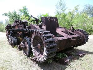 2. Dünya Savaşı sırasında abd ve Japonya arasında yaşanan Peliliu Savaşı'nda kalma tank
