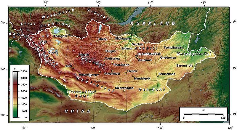 mogolistan  fiziki yapı