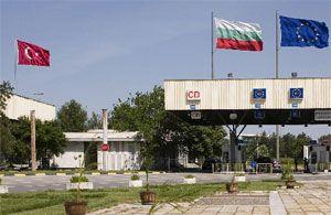 Bulgaristan'ın Kapitan Andreevo Sınır Kapısı'nda inşaat çalışmaları