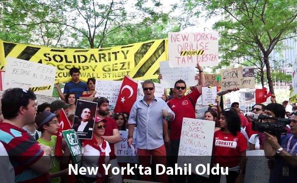 """New York'ta İki """"Gezi Parkı"""" Gösterisi"""