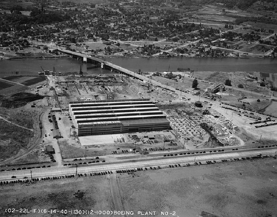 2. Dünya Savaşı Sırasında Kamufle Edilen Boeing Uçak Fabrikası