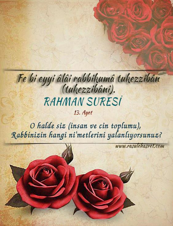 RAHMAN Suresi 13. Ayet